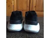 Adidas originals Eqt support boost 93/17 (black) - milled leather U.K.8