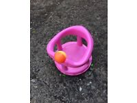 Pink Girls Bath Seat from 6 Months