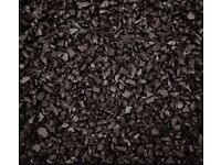 One ton Black Rubber chippings