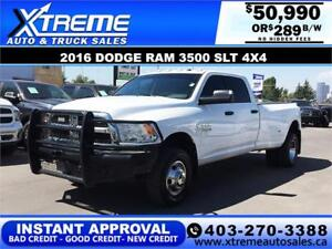 2016 Dodge Ram 3500 SLT DUALLY 4X4  *INSTANT APPROVAL* $289/BW!
