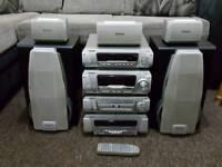 Technics hifi stereo 5x cd/dvd video SL.DV290