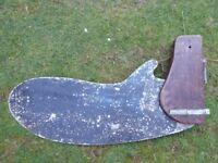 Large antique or vintage boat rudder