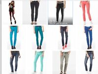 OFFER ! WOMANS NEW SKINNY JEANS ALL COLOURS ADIDAS NEO CHEAP