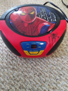 Spiderman cd player fm radio