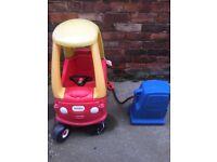 Little tikes car and petrol pump