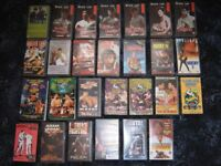 Martial Arts MMA UFC Bruce Lee Boxing Rocky VHS tape Joblot (27 tapes)