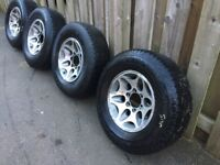 Used Mitsubishi l200 wheels and tyres.