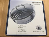 Le Creuset stainless steel steamer with glass lid £30
