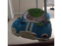 Blue kiddicare door bouncer
