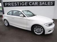 BMW 1 SERIES 2.0 120D M SPORT 2d 175 BHP (white) 2013