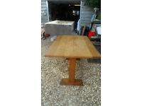 Solid Oak refectory Dining Table - seat 6