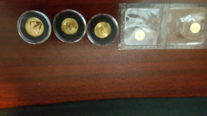 Fractional gold coins for sale.