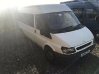 FORD TRANSIT T350 LWB MINIBUS , 54REG , 15-17SEATER, FOR SALE