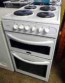 23 Belling 50cm Wide Double Cavity 4 Ring hob Electric Cooker 1YEAR GUARANTEE FREE DEL N FIT
