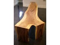 Hand-made Acacia bench seat