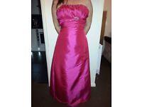 Cerise Pink Bridesmaid dresses x2