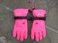 Childs Tog 24 snow gloves. Gore-tex & fleece lined. Pink. XL likely 10-12 yr old