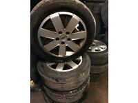 X4 FORD GALAXY ALLOY WHEELS AND TYRES 215 55 r16