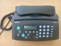Philips HFC 171 telephone fax answering machine in excellent condition plus 6 fax rolls