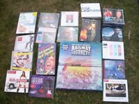 cd's and dvd's assorted,music, trains,stones video, ideal for boot sale