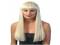 LONG BLONDE FANCY DRESS WIG GREAT FOR PLAY / PARTY OR HEN DO