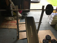 Fitness bench and weights