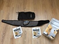 Men/women's abs belt with two brand new sets of pads