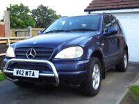 Merc ML320 - Auto - 3.2 ltr Petrol - 4WD - 8mths MOT - Taxed - FSH - 2000 reg - Only 103k miles