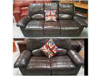 Leather recliners 3 and 2 sofas can deliver 07808222995