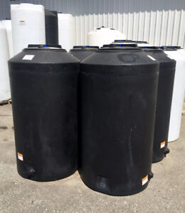 150G - Black Vertical Water Storage Tank - One ONLY