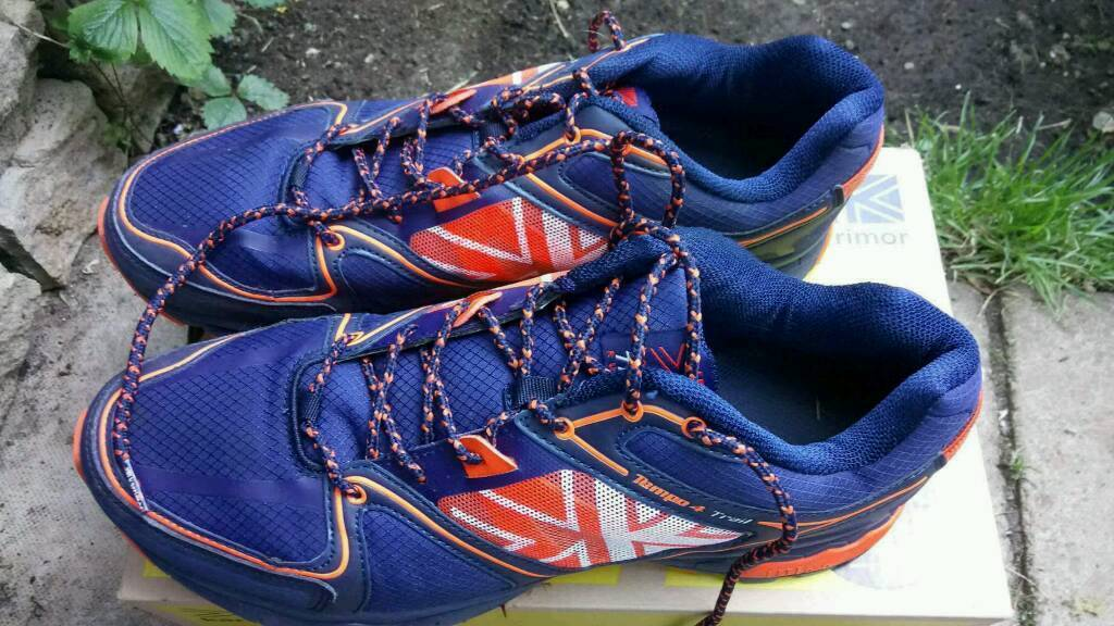 Running shoes size 11in Banbury, OxfordshireGumtree - Karrimor tempo 4 lite d30 running shoes uk size 11 eu 45 navy Orange running shoes only worn once. Comes with box impact protection.Only selling due to outgrowing them.Excellent condition great price for 25