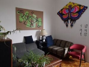 Big furnished room in 5 1/2 near Berri-UQAM available August 1