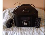 Pure FM/DAB/DAB+ CD Stereo Alarm Clock with Remote