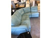 Turquoise L shape sofa