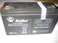 NEW SEALED RECHARGEABLE BATTERY. FOR RIDE ON TOYS. DIAMEL DM6 - 10 (6V 10AH/20HR)