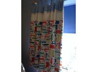 EXCELLENT kids TRANSPORT curtains with blackout lining PLUS duvet set