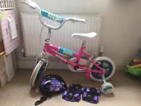Kids Bike with Helmet , Knee & Arm pads