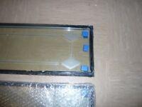 2 glass panels with sandblast design for a composite door