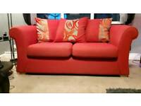 2 seater large red sofa