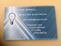 Local electrician Luke O'Neill Electrical