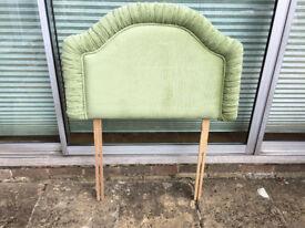 Green Velvetine Single Headboard, from Martells never used.