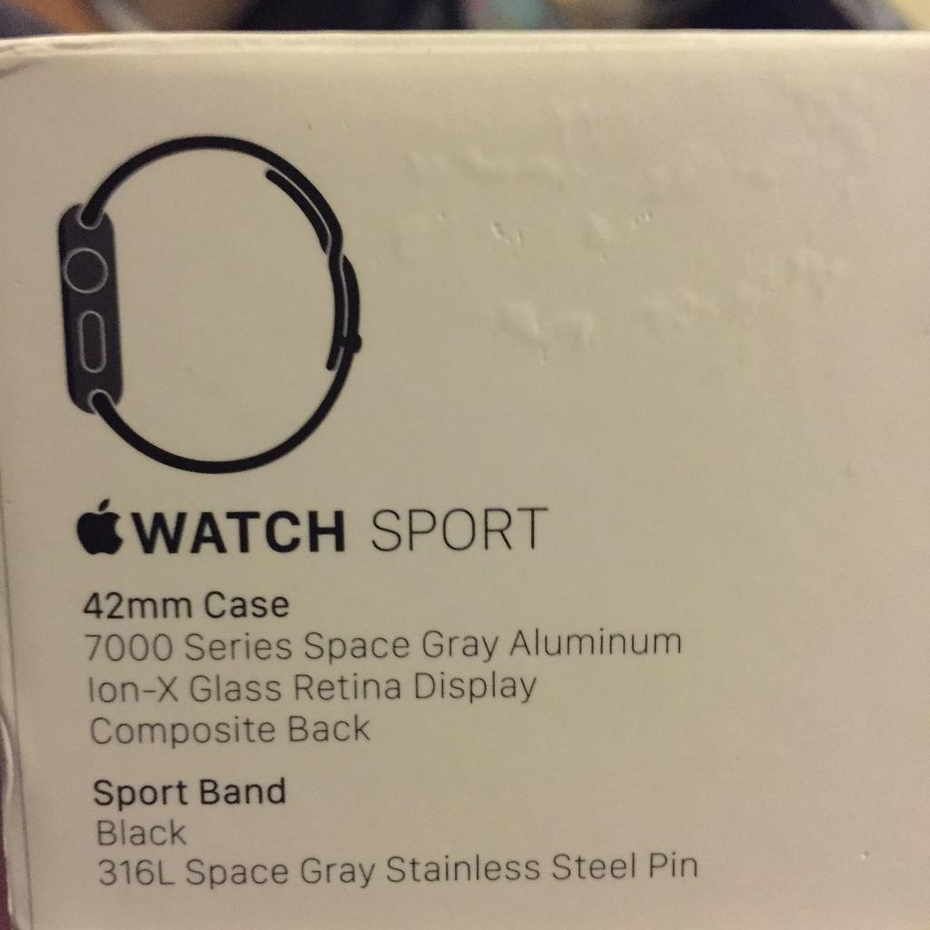 Apple Watch 42mm Space Greyin Liverpool, MerseysideGumtree - Selling my Apple Watch 42mm, barely used and in good condition. Im selling it as I use my fitbit more for sport.£160