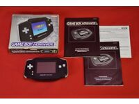 Gameboy Advance Black Boxed £48