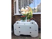 ART DECO DRESSING TABLE FREE DELIVERY LDN🇬🇧Shabby chic VINTAGE chest