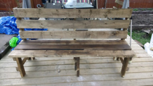 Wooden bench 71 inches long 36 inches high 24 inches deep