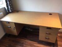 Wooden Office Desk with Lockable Draws