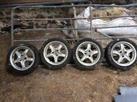 4 Citroen Saxo 3 stud alloy wheels