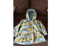 Next lemon print rain coat 2/3yrs