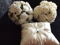 Bridesmaid posy x2 and ring cushion