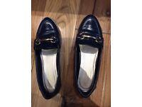 John Lewis Navy Flat Shoes 4UK